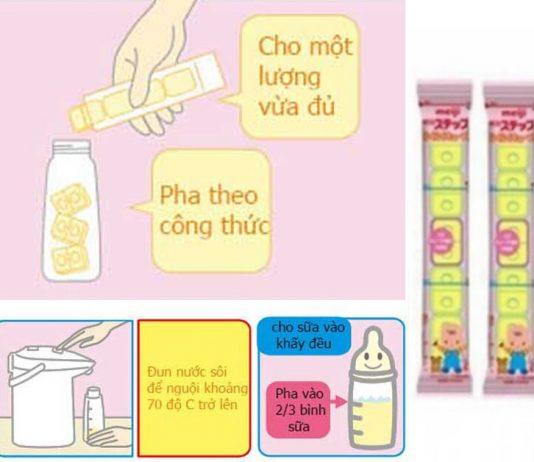 Cách pha sữa meiji thanh