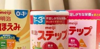 Cách pha sữa Meiji bột 0-1